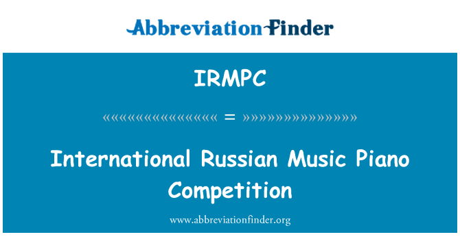 IRMPC: International Russian Music Piano Competition