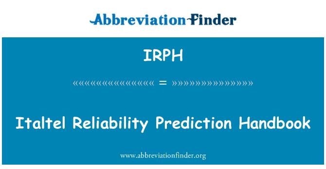 IRPH: Italtel Reliability Prediction Handbook