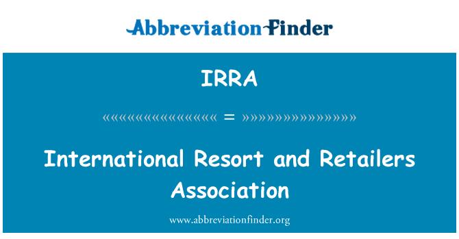 IRRA: Centro turístico internacional y la Asociación de minoristas