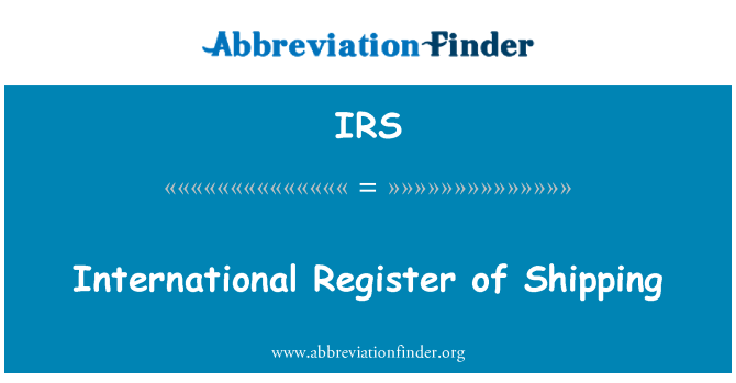 IRS: International Register of Shipping