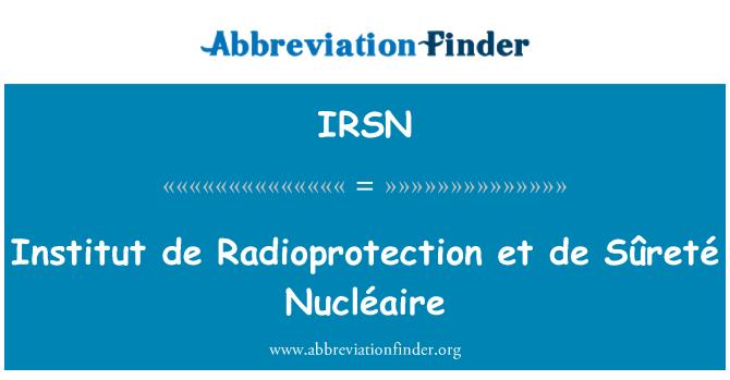 IRSN: Instituto de radioprotección y de Sûreté Nucléaire