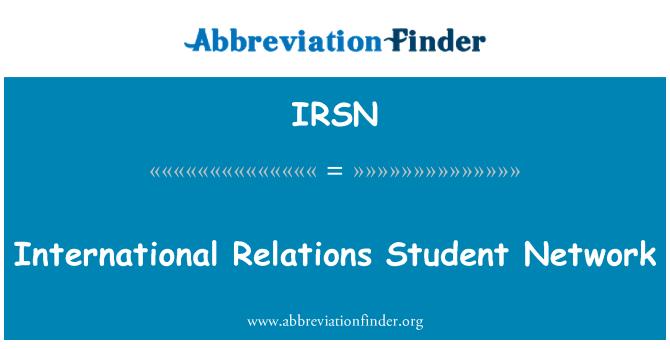 IRSN: Red de estudiantes de relaciones internacionales