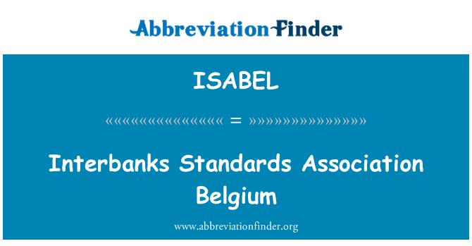 ISABEL: Interbanks Standards Association Belgium