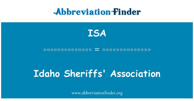 ISA: Idaho Sheriffs' Association