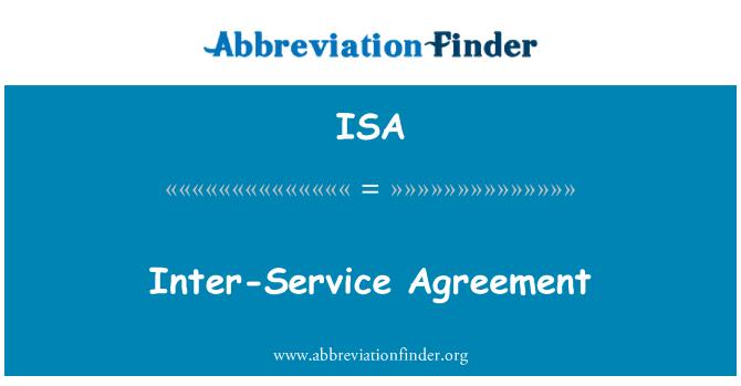 ISA: Inter-Service Agreement