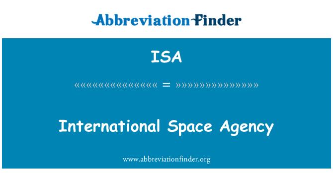 ISA: International Space Agency