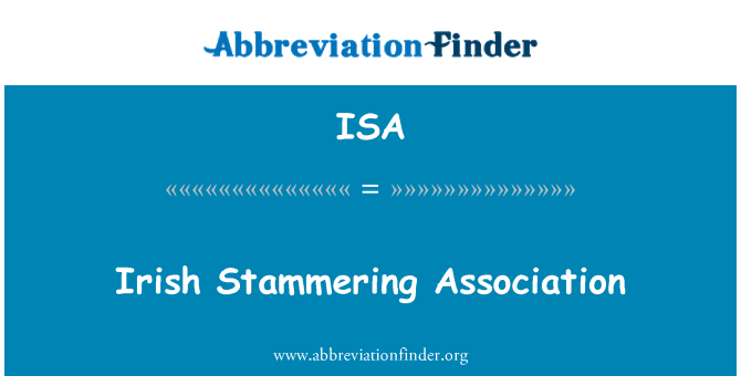 ISA: Irish Stammering Association