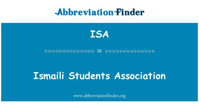 ISA: Ismaili Students Association