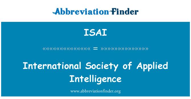 ISAI: Sociedad Internacional de inteligencia aplicada