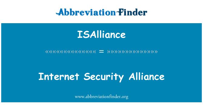 ISAlliance: Internet Security Alliance