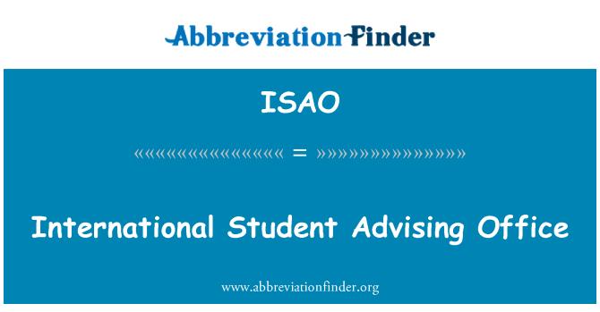 ISAO: Oficina de asesoramiento estudiantil internacional