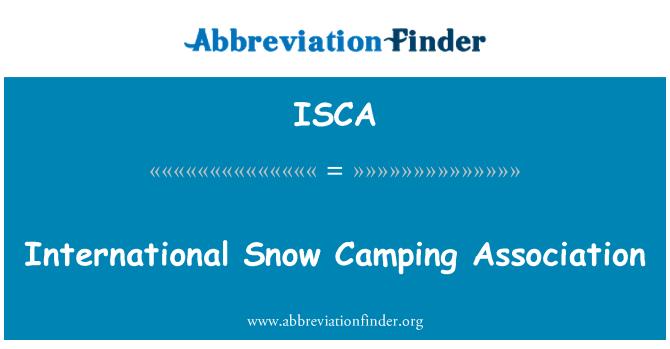 ISCA: International Snow Camping Association