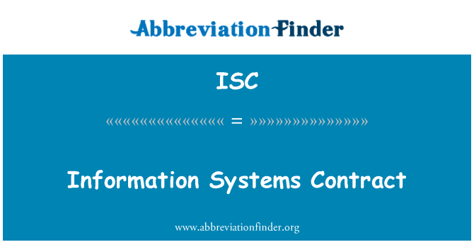 ISC: Information Systems Contract