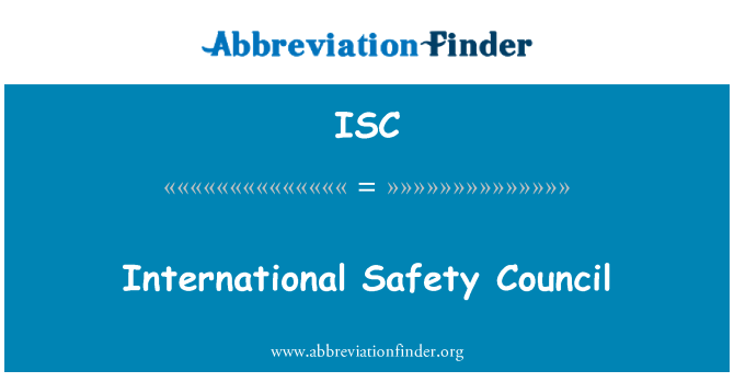 ISC: International Safety Council