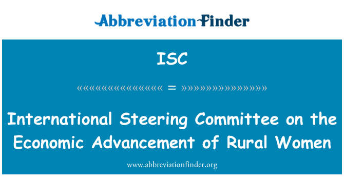 ISC: International Steering Committee on the Economic Advancement of Rural Women