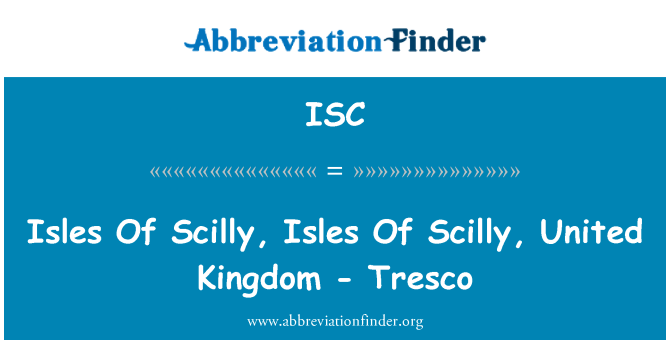 ISC: Isles Of Scilly, Isles Of Scilly, United Kingdom - Tresco