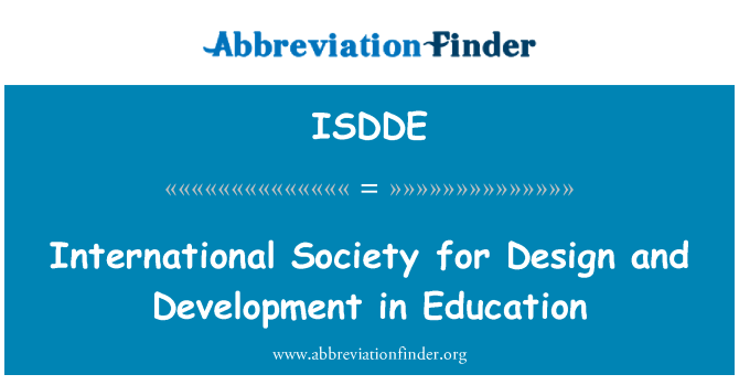 ISDDE: International Society for Design and Development in Education
