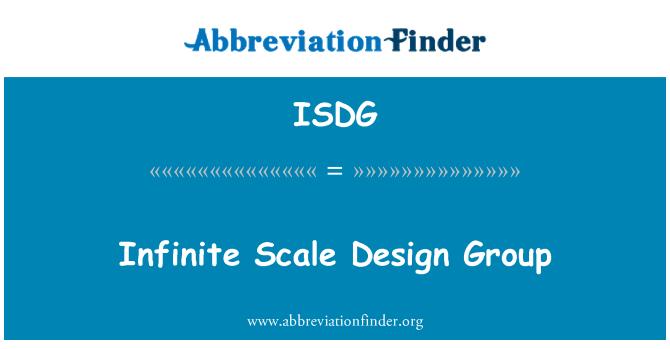ISDG: Infinito escala Design Group