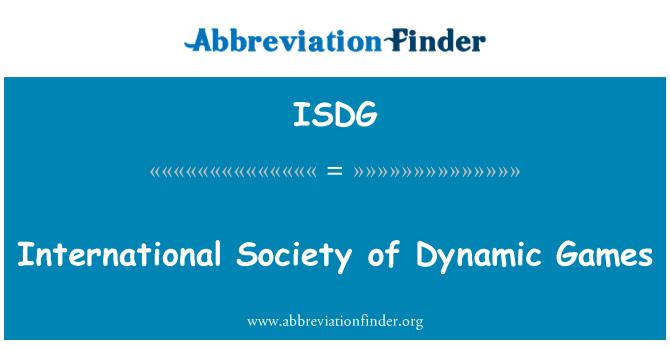 ISDG: Sociedad Internacional de juegos dinámicos