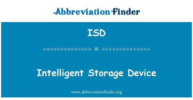 ISD: Intelligent Storage Device