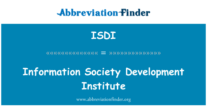 ISDI: Instituto de desarrollo de la sociedad de información