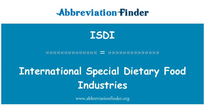 ISDI: Industrias de alimentos dietéticos especiales internacionales