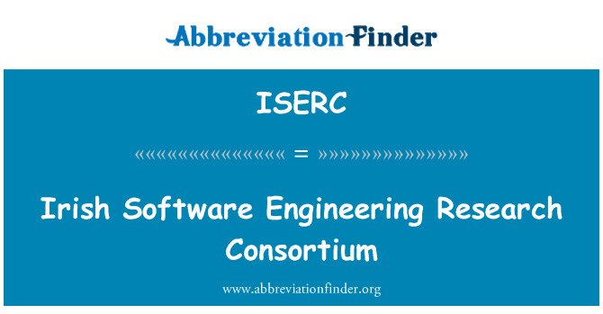 ISERC: Irish Software Engineering Research Consortium