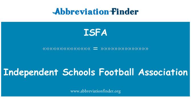ISFA: Independent Schools Football Association