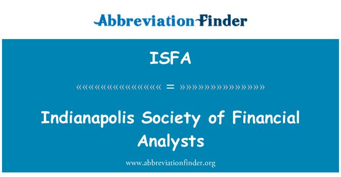 ISFA: Indianapolis Society of Financial Analysts