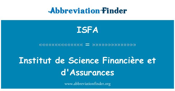 ISFA: Institut de Science Financière et d'Assurances