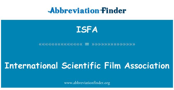 ISFA: International Scientific Film Association