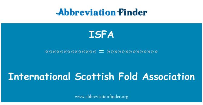 ISFA: International Scottish Fold Association