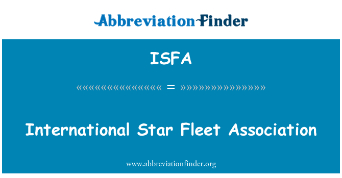 ISFA: International Star Fleet Association