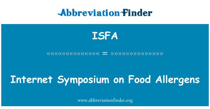 ISFA: Internet Symposium on Food Allergens