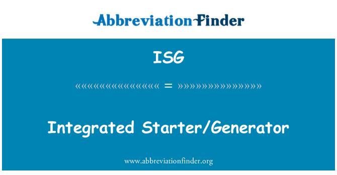 ISG: Integrated Starter/Generator