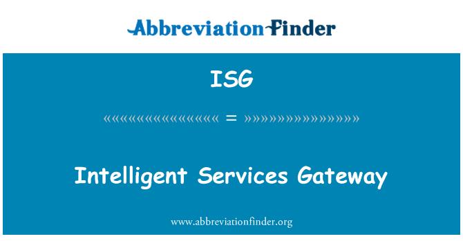 ISG: Intelligent Services Gateway