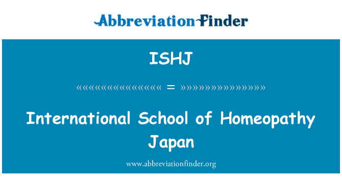 ISHJ: International School of Homeopathy Japan