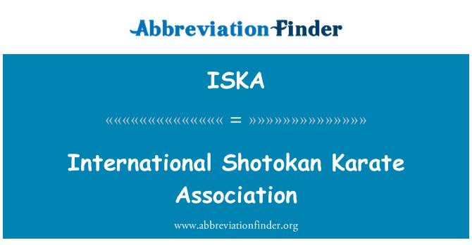 ISKA: بین الاقوامی شوٹکان کراٹے ایسوسی ایشن