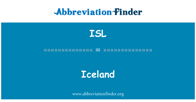 ISL: Iceland