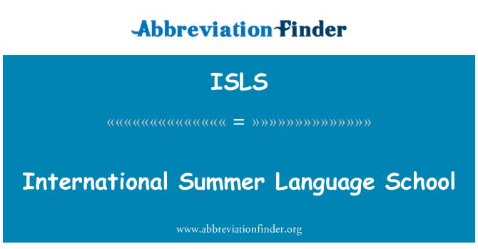 ISLS: Escuela de idiomas de verano internacional
