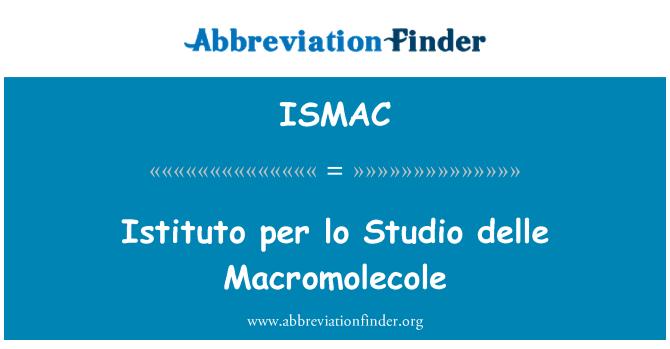 ISMAC: Istituto per lo Studio delle Macromolecole