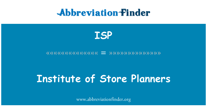 ISP: Institute of Store Planners