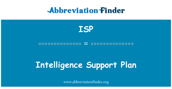 ISP: Intelligence Support Plan