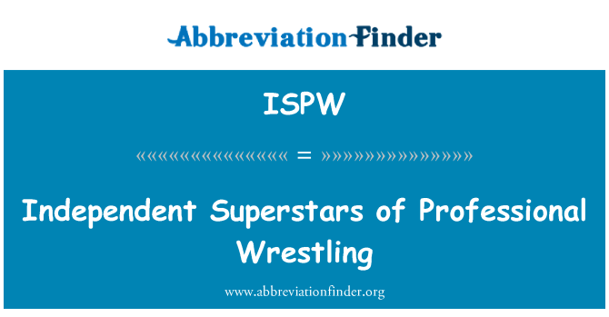 ISPW: Independent Superstars of Professional Wrestling