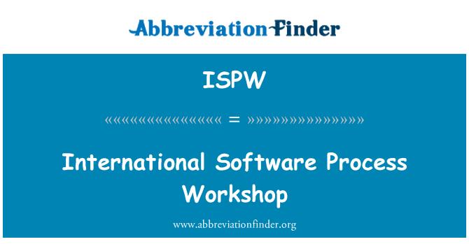 ISPW: International Software Process Workshop