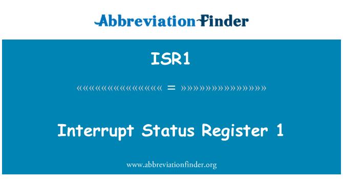 ISR1: Interrupt Status Register 1