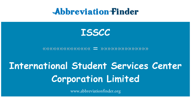 ISSCC: International Student Services Center Corporation Limited