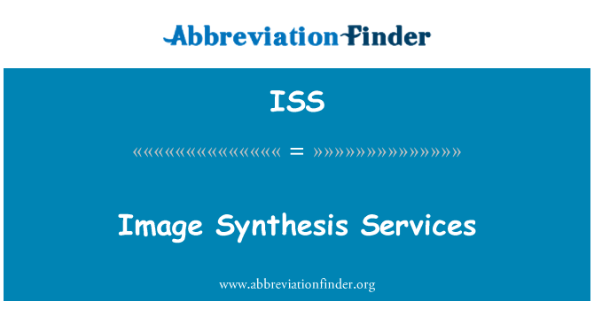ISS: Image Synthesis Services