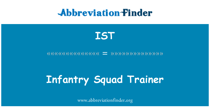 IST: Infantry Squad Trainer
