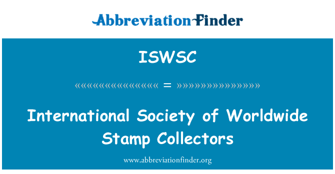 ISWSC: International Society of Worldwide Stamp Collectors
